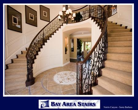 Cherry Wishbone Stair With Iron Balusters ...